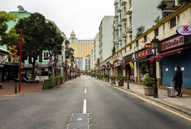 Macaon kasinokaupunki oli koronaviruksen takia aution näköinen.