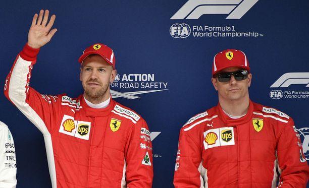 Sebastian Vettelin ja Kimi Räikkösen yhteistyö miellyttää kumpaakin.