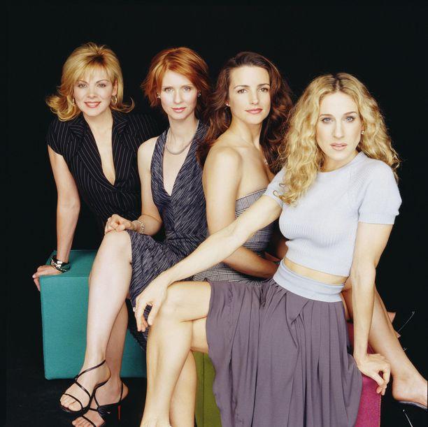Kim Catrall, Cynthia Nixon, Kristin Davis ja Sarah Jessica Parker eli Samantha, Miranda, Charlotte ja Carrie tähdittivät Sinkkuelämää-sarjaa.