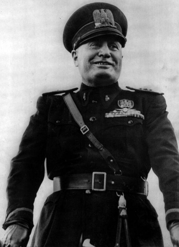Benito Mussolini johti Italiaa toisen maailmansodan aikaan.
