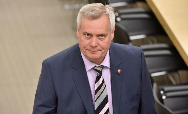 Antti Rinne jututti hallitusta sotesta toukokuussa.