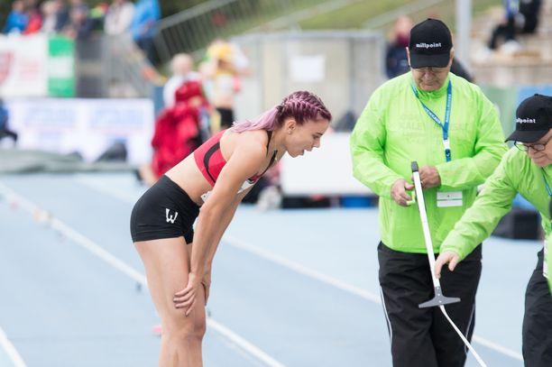 Taika Koilahti voitti perjantaina pituushypyn SM-kultaa.