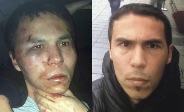 Turkin media levitti kuvaa pidätetystä ja pahoinpidellystä terroristiepäillystä. Oikeanpuoleinen kuva on miehen itse kuvaamalta selfievideolta.