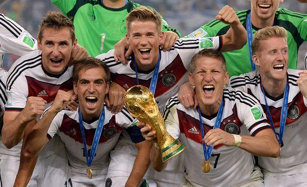 Vuoden 2014 MM-kisojen voittoa juhli Saksa.