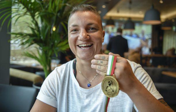 Elina Gustafssonin voitti Euroopan mestaruuden vuonna 2018.