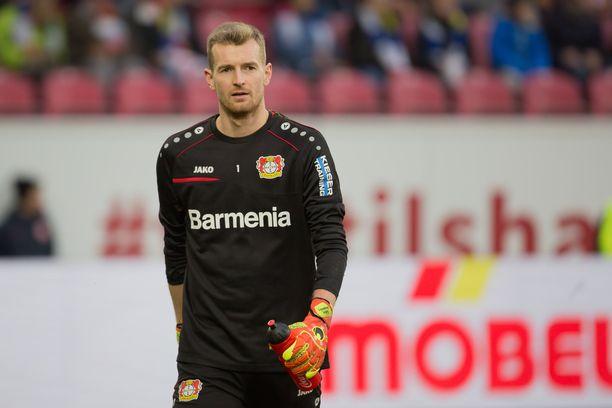 Lukas Hradecky on ollut Leverkusenin kantava voima tolppien välissä.