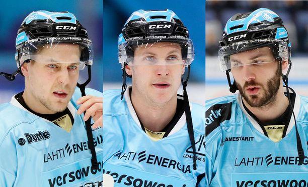 Juhani Tyrväinen, Antti Erkinjuntti ja Justin Hodgman eivät pelaa tänään.