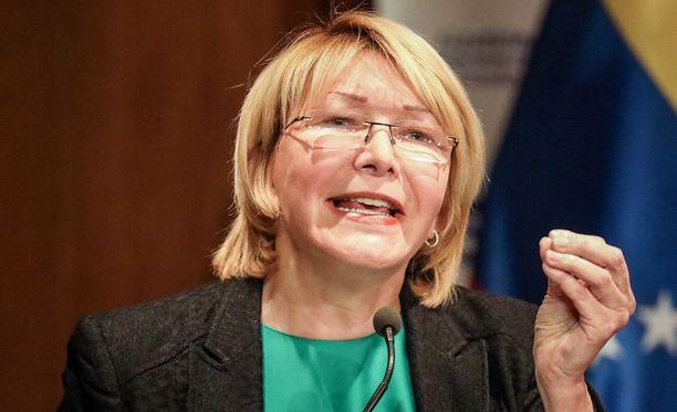 Venezuelan presidentti on jäädyttänyt syyttäjä Luisa Ortegan pankkitilin.