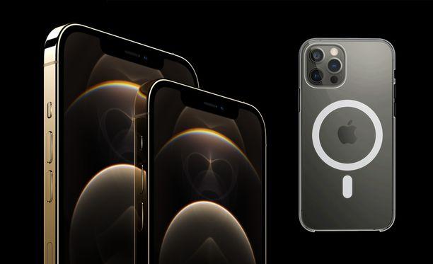 Uudet Iphonet tukevat MagSafe-magneettikiinnitystä.