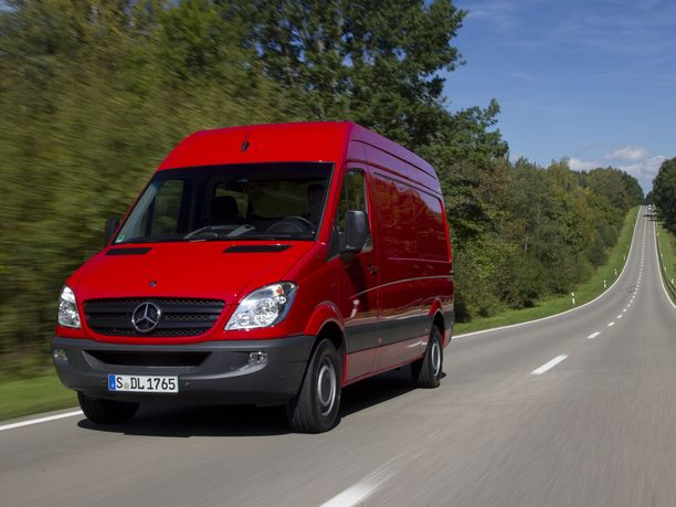 Mercedes-Benz. Sprinter kuvattuna Stuttgartissa.