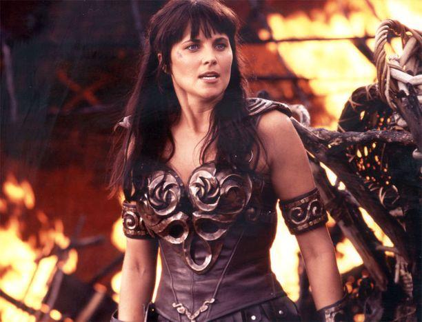 Tältä Lucy Lawless näyti Xenassa vuonna 1998.