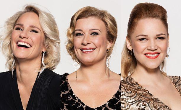 Tanssikisan voitosta kamppailevat vielä Laura Malmivaara, Kirsi Alm-Siira ja Anna-Maija Tuokko.