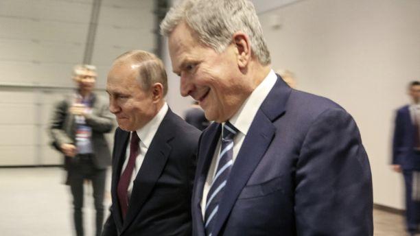 Suomen presidentti NIinistö iloitsi siitä, että Pietariin oli saapunut myös muut pohjoismaiset päämiehet.
