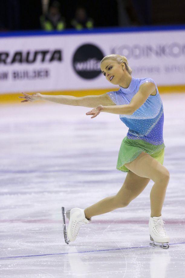 Korpi ilmoitti elokuussa lopettavansa kilpaurheilun. Kuva SM-kisoista joulukuulta 2014.