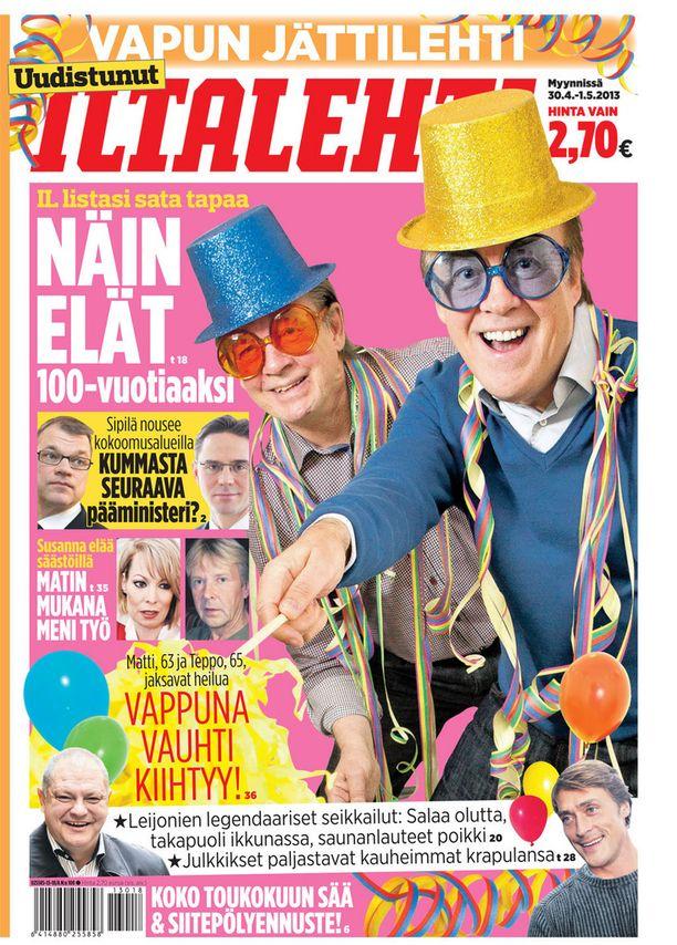 Vuosi 2013, kannessa Matti ja Teppo.