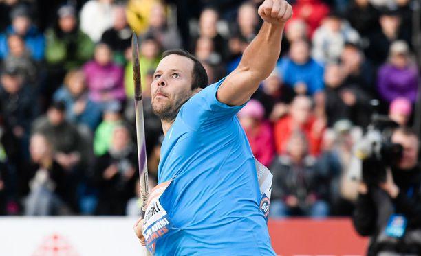 Tero Pitkämäki on Suomen mukana EM-joukkuekilpailussa.