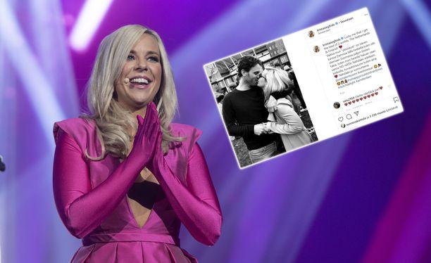 Krista Siegfrids esiintyi vielä UMK-juonnoissa,  mutta Talent Suomi -ohjelmaan iski karanteeni.