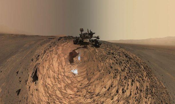 Mobiililaboratorio Curiosity laskeutui Marsiin elokuussa 2012.