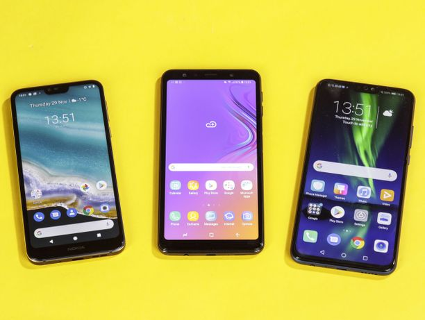 Kolme noin 300 euron Android-puhelinta laitettiin testissä vastakkain.