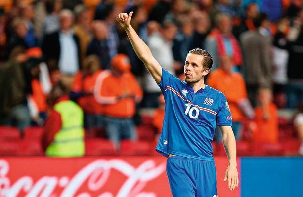26-vuotias Gylfi Sigurdsson on maajoukkueen suurin tähti. Ammatikseen keskikenttätaituri pelaa Swanseassa.