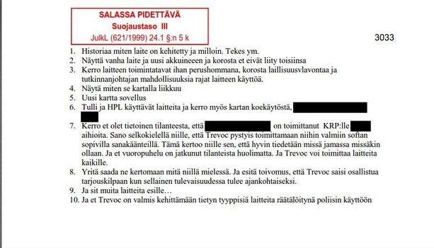 Poliisin takavarikoimat useat sadat teksti- ja sähköpostiviestit osoittavat Aarnion toimineen aktiivisesti Helsingin poliisilaitoksen seurantalaitehankintojen kulisseissa.