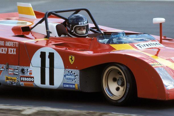 Jackie Ickx Ferrarin ratissa vuonna 1972.
