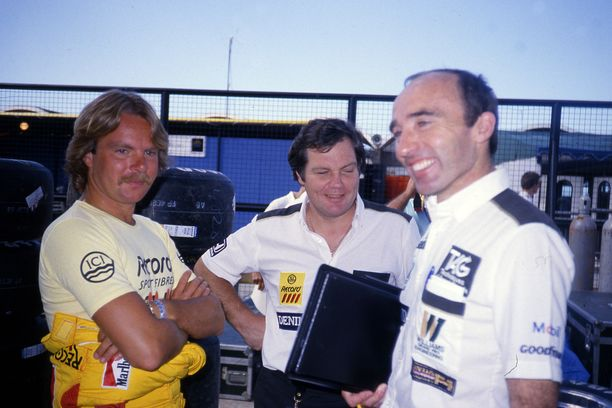 Keke Rosberg, Patrick Head ja Frank Williams – Williamsin mahtitiimi 1980-luvulla.