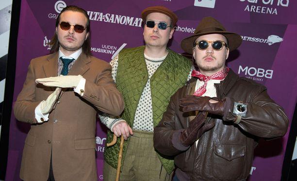 Teflon Brothers UMK-finaalissa helmikuussa.