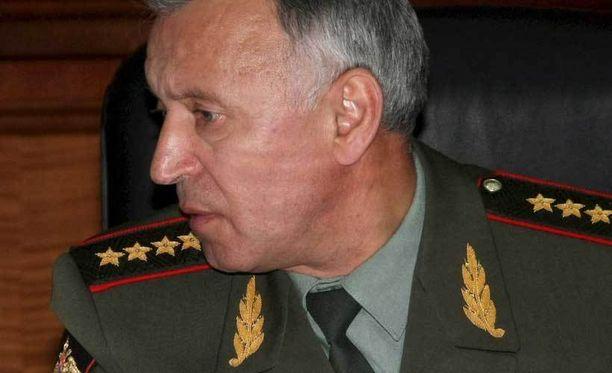 Venäläinen kenraali vieraili Helsingissä.