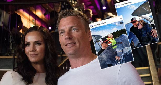 Kimi ja Minttu Räikkönen viettivät hellepäivän veneilyn parissa.