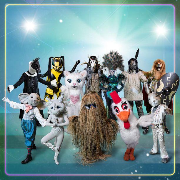 Masked Singer Suomi -ohjelmassa nähdään hullunkurinen kavalkadi hahmoja.