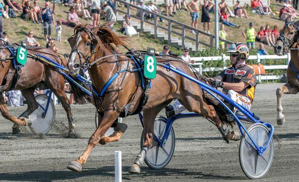 Kuninkuuskisan 2. osakilpailun voittaa Välähdys ja Harri Kotilainen ennen Camria jaTerho Rautiaista.