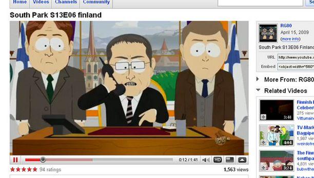 Tältä näyttää Suomen johto - South Parkin tekijöiden mukaan.
