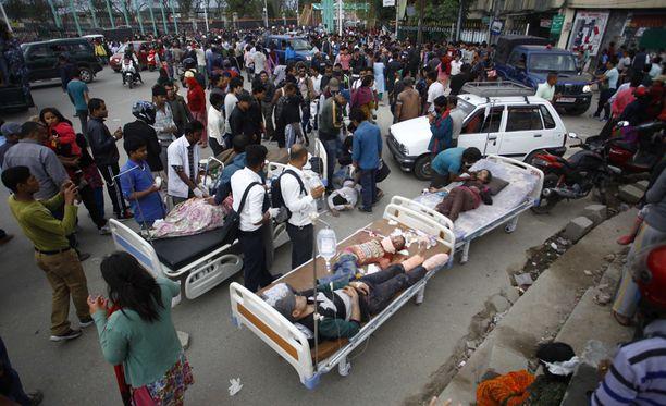 Nepalin pääkaupungissa Kathmandussa vallitsi järistyksen jälkeen kaaos.