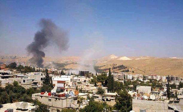 Kuva Damaskoksesta sunnuntaina.
