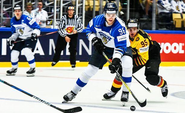 Suomen NHL-tähdet eivät olleet sunnuntaina raikkaimmillaan. Kuvassa Mikko Rantanen.