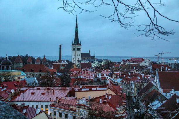 Tallinna on Viron koronakeskus. Kuvituskuva viime vuoden helmikuulta.