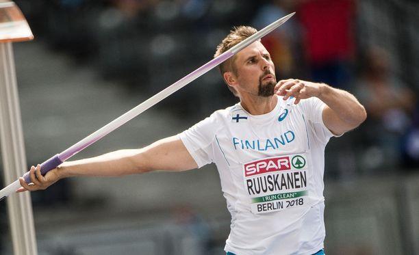 Antti Ruuskanen oli ainoa suomalainen mies keihään finaalissa.