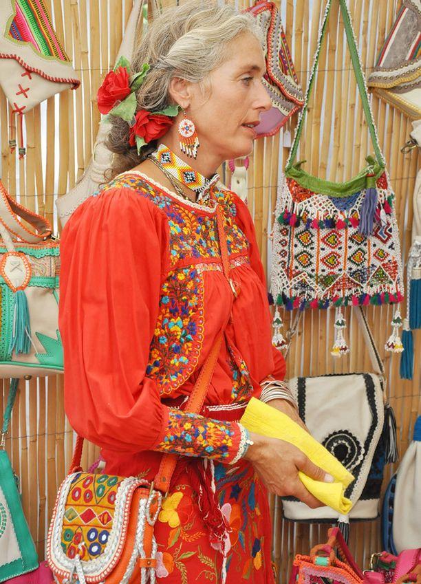Hippi-designia Las Daliaksen markkinoilla.