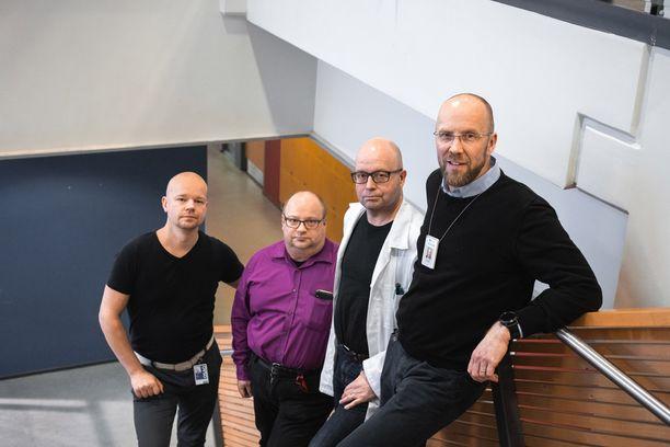 OSAOn Antti Junttila, Juha Moilanen, Jyrki Tolonen ja Vesa Pirilä tähdentävät, että koulutus on työelämää varten. Oppilaitoksessa on tärkeää tietää, millaisia työtehtäviä alalla on.