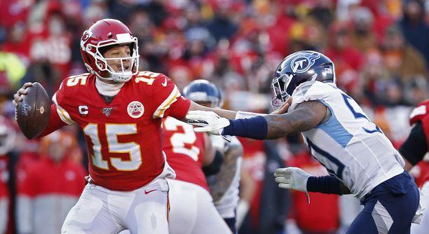 Patrick Mahomes on NFL:n hallitseva MVP. Pelinrakentaja on Kansas City Chiefsin avainpelaaja ensi yön Super Bowlissa.