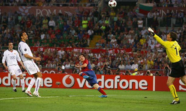 Lionel Messin pusku sinetöi Barcelonan 2-0-voiton.