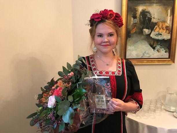 Katja Kettu joutui jättämään syksyllä Helsingin kirjamessut väliin sairastelun vuoksi.