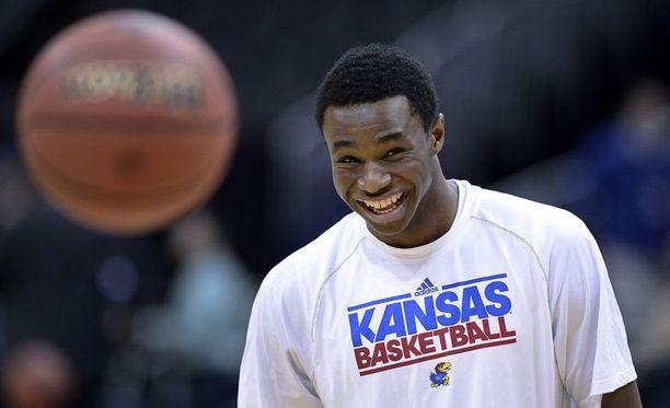 Kanadalainen Andrew Wiggins oli NBA-draftin ykkösvaraus.