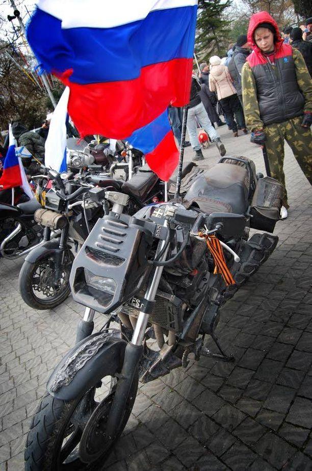 Tällä pyörällä ajaa Yön susien johtaja Alexander Zaldostanov.