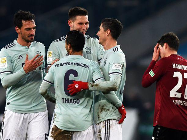 Bayern München piti pienet maalintekoharjoitukset Hannover 96:n kustannuksella.