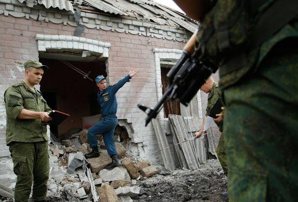 Venäjän tukemat separatistit ja Ukrainan armeija ottavat kiihtyvin määrin yhteen. Kuva Donestkista separatistien alueelta heinäkuussa 2016.