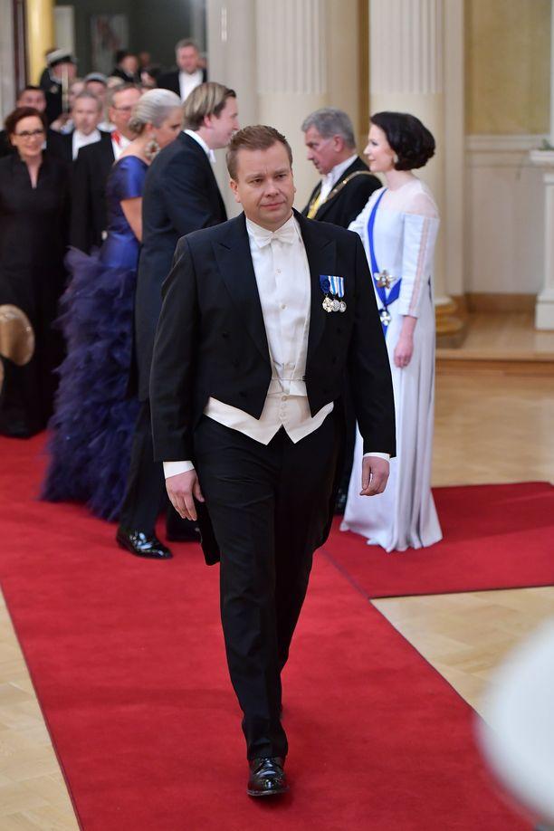 Antti Kaikkonen saapui Linnan juhliin yksin.