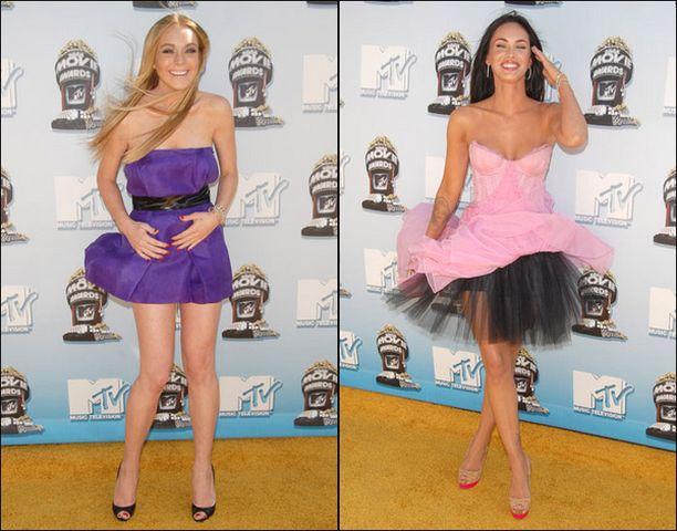 Lindsay Lohanilla ja Megan Foxilla oli helmoissa pitelemistä.