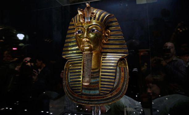 Tutankhamonin kultainen maski löytyy Egyptiläisestä museosta.